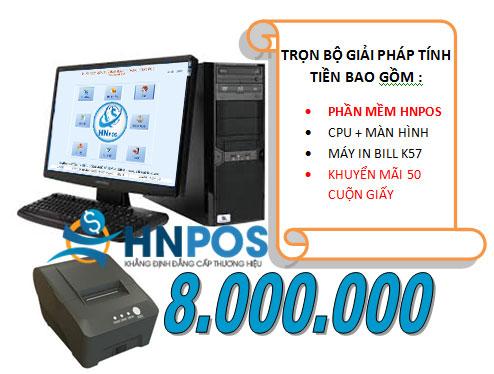 Combo trọn bộ phần mềm HNPOS, máy tính, máy in bill.