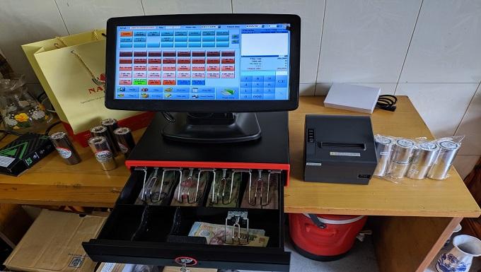 máy tính tiền cho quán cafe nhỏ