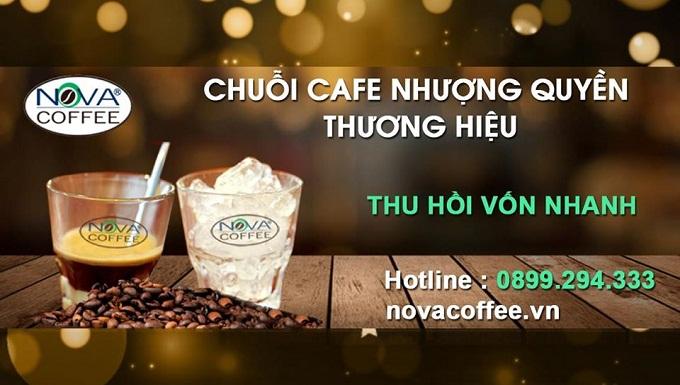Nova coffee chuỗi nhượng quyền thương hiệu