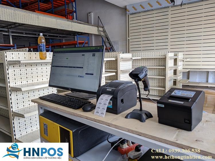 Máy tính tiền cửa hàng vậy liệu xây dựng