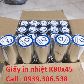 Giấy in nhiệt K80x45- Giấy in bill Oji Nhật Bản